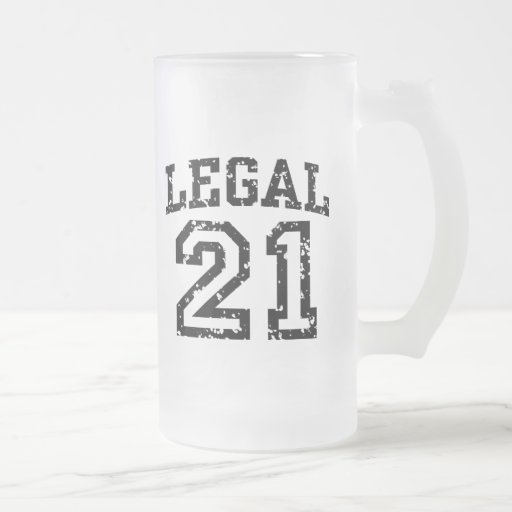 21st Birthday Frosted Glass Beer Mug