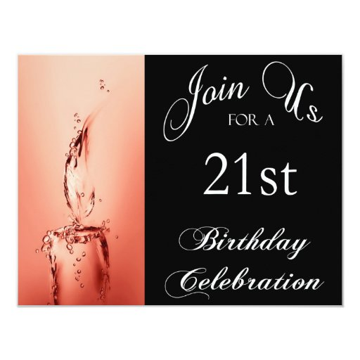 21st Birthday Party Personalized Invitation