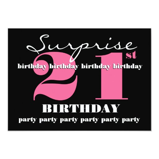21st SURPRISE Birthday Party Invitation Template