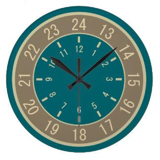 24 Hour Wall Clocks Zazzle