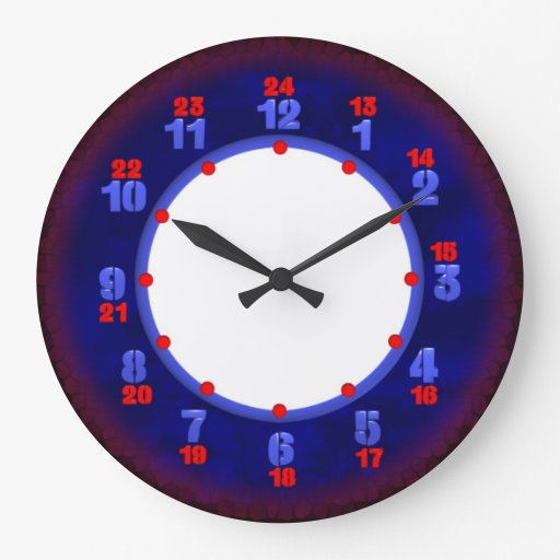 24 Hour Military Time Clock Template Zazzle