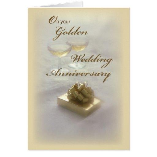 2594 golden wedding anniversary card  zazzle