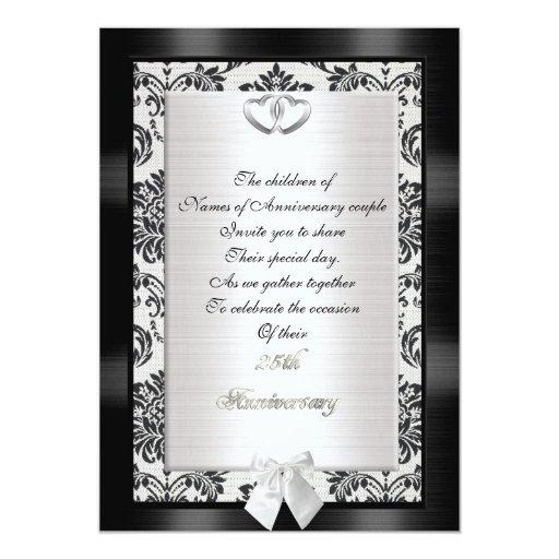 25th Wedding Anniversary Invitation Cards For Parents: 25th Anniversary Party Invitation For Parents