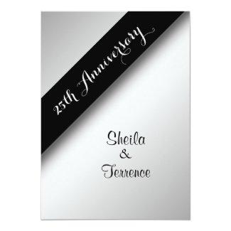 25th Wedding Anniversary Invitation Card Zazzle New
