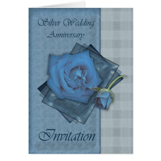 25th Wedding Anniversary Invitation Cards For Parents: 25th Wedding Anniversary Invitation Card