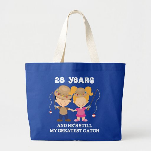 28th Wedding Anniversary Gift: 28th Wedding Anniversary Funny Gift For Her Canvas Bags