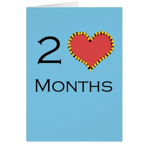 2 month anniversary greeting card  zazzle