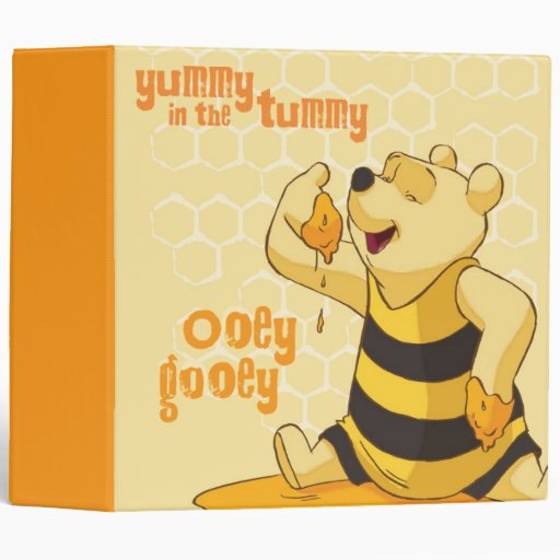 """2"""" Pooh - Yummy In The Tummy 3 Ring Binders"""
