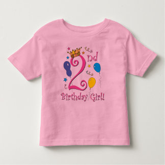 Girls 2nd Birthday Shirts