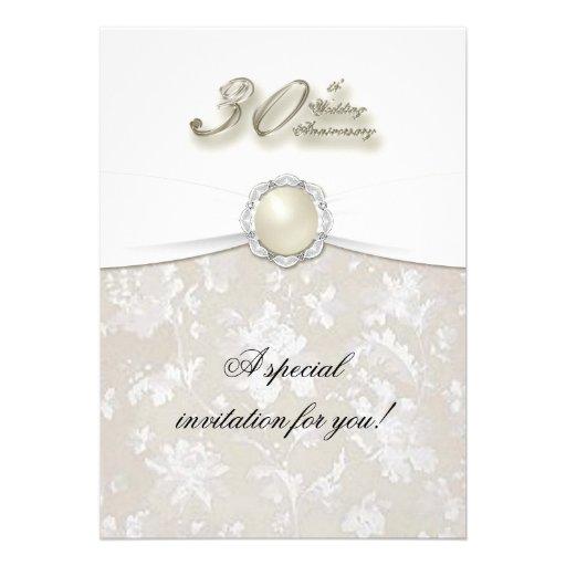 "30th Wedding Anniversary Invitations: 30th Wedding Anniversary Invitation 5"" X 7"" Invitation"
