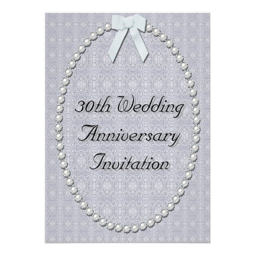 30 Wedding Anniversary Ideas: 30th Wedding Anniversary Invitation 13 Cm X 18 Cm