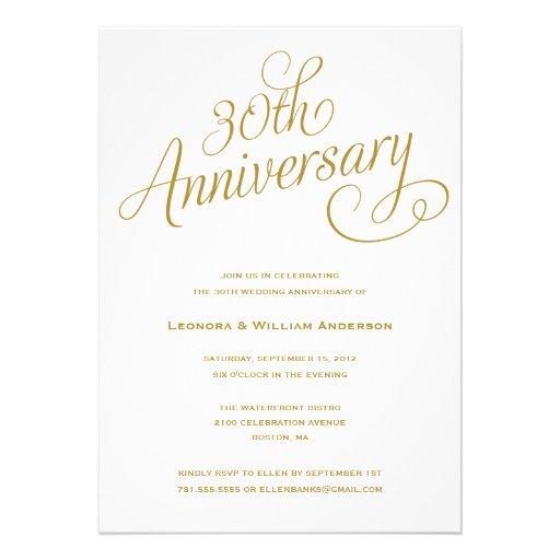 Wedding Anniversary Invitation Message: Personalized 30th Anniversary Invitations
