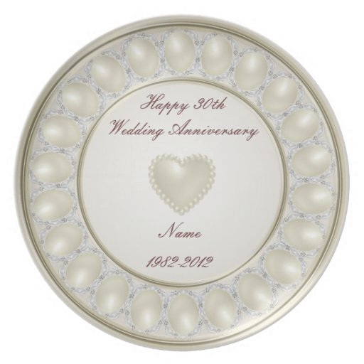 What Is 30th Wedding Anniversary Gift: 30th Wedding Anniversary Plate