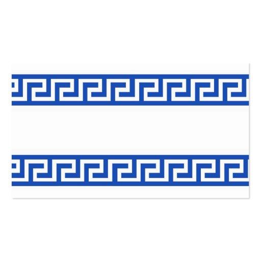 Greek Key Business Card Templates Bizcardstudio