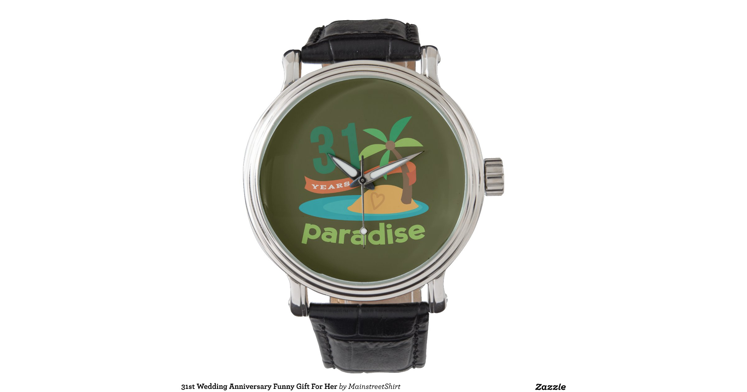 31st Wedding Anniversary Gifts: 31st_wedding_anniversary_funny_gift_for_her_wristwatch