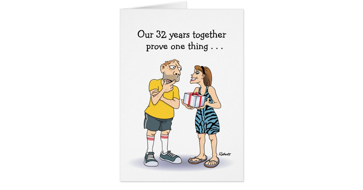 33rd Wedding Anniversary Gift: 32nd Wedding Anniversary Card: Love Card
