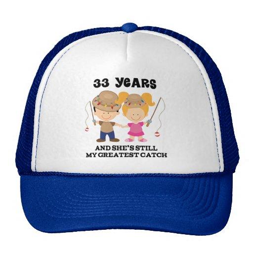 33rd Wedding Anniversary Gift: 33rd Wedding Anniversary Gift For Him Trucker Hat
