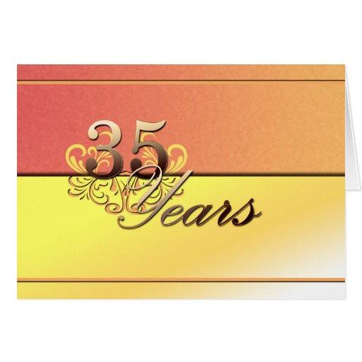 35 Years (wedding Anniversary) Greeting Card