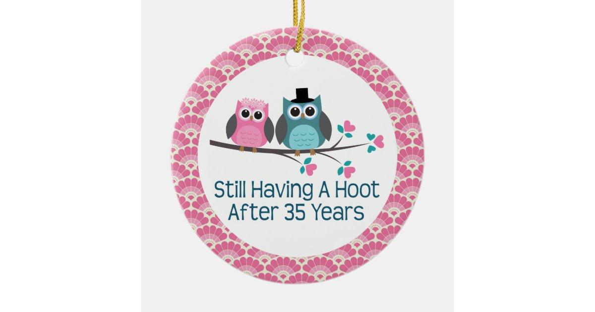 35 Year Wedding Anniversary Gifts: 35th Anniversary Owl Wedding Anniversaries Gift Ceramic