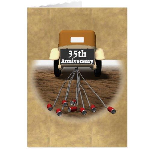 Wedding Anniversary 35 Years Gifts: 35th Wedding Anniversary Gifts Card