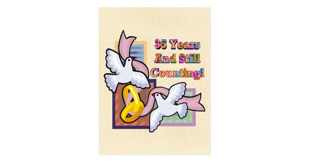 35 Year Wedding Anniversary Gifts: 35th Wedding Anniversary Gifts Postcard