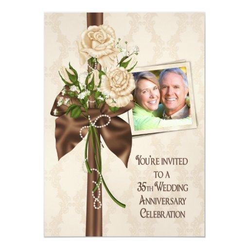 35th Wedding Anniversary Roses Card
