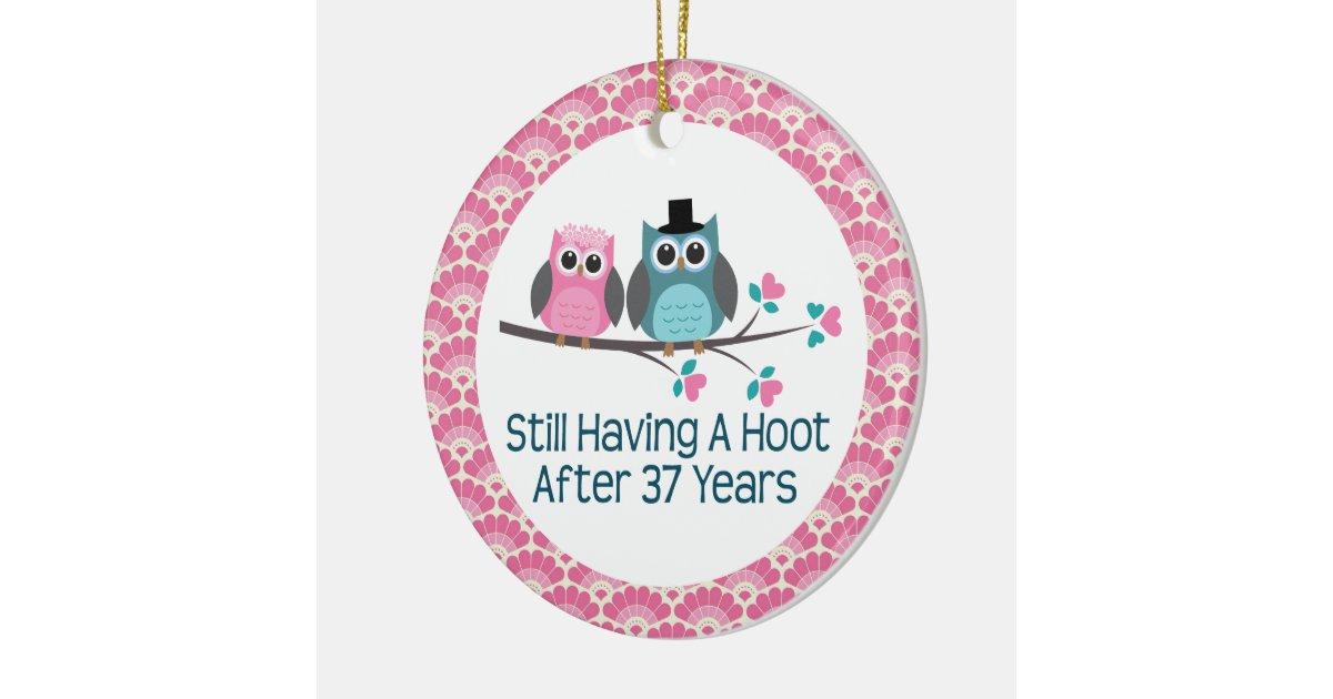 37th Wedding Anniversary Gifts: 37th Anniversary Owl Wedding Anniversaries Gift Ceramic