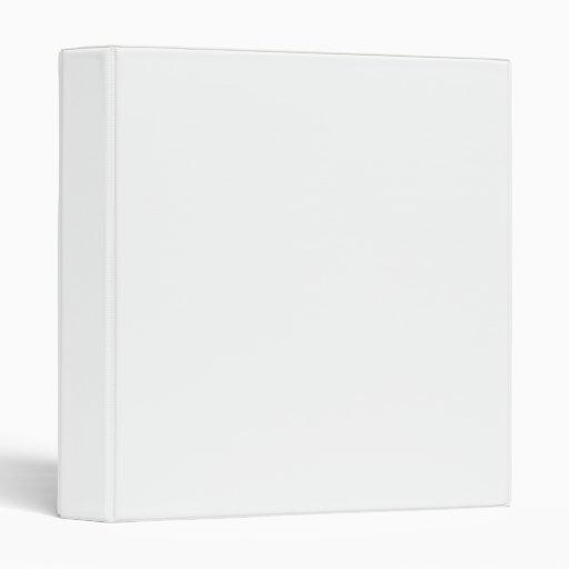 3 Ring Binder(White) Vinyl Binder