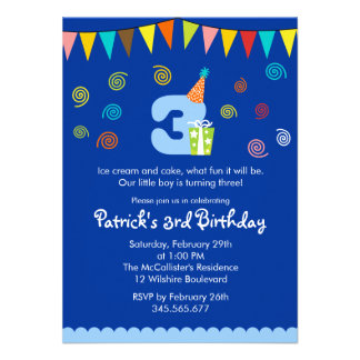 40th Birthday Ideas 3 Year Old Invitation Templates