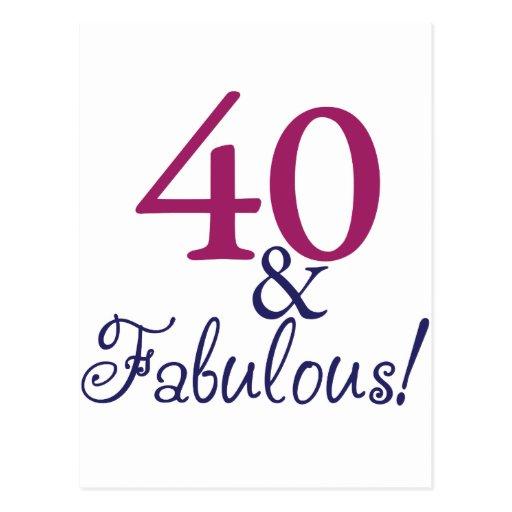 40 And Fabulous (40th Birthday) Postcard