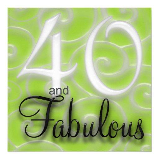 40 And Fabulous Birthday Invitation