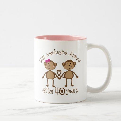 Gift For 40th Wedding Anniversary: 40th Wedding Anniversary Gifts Two-Tone Coffee Mug