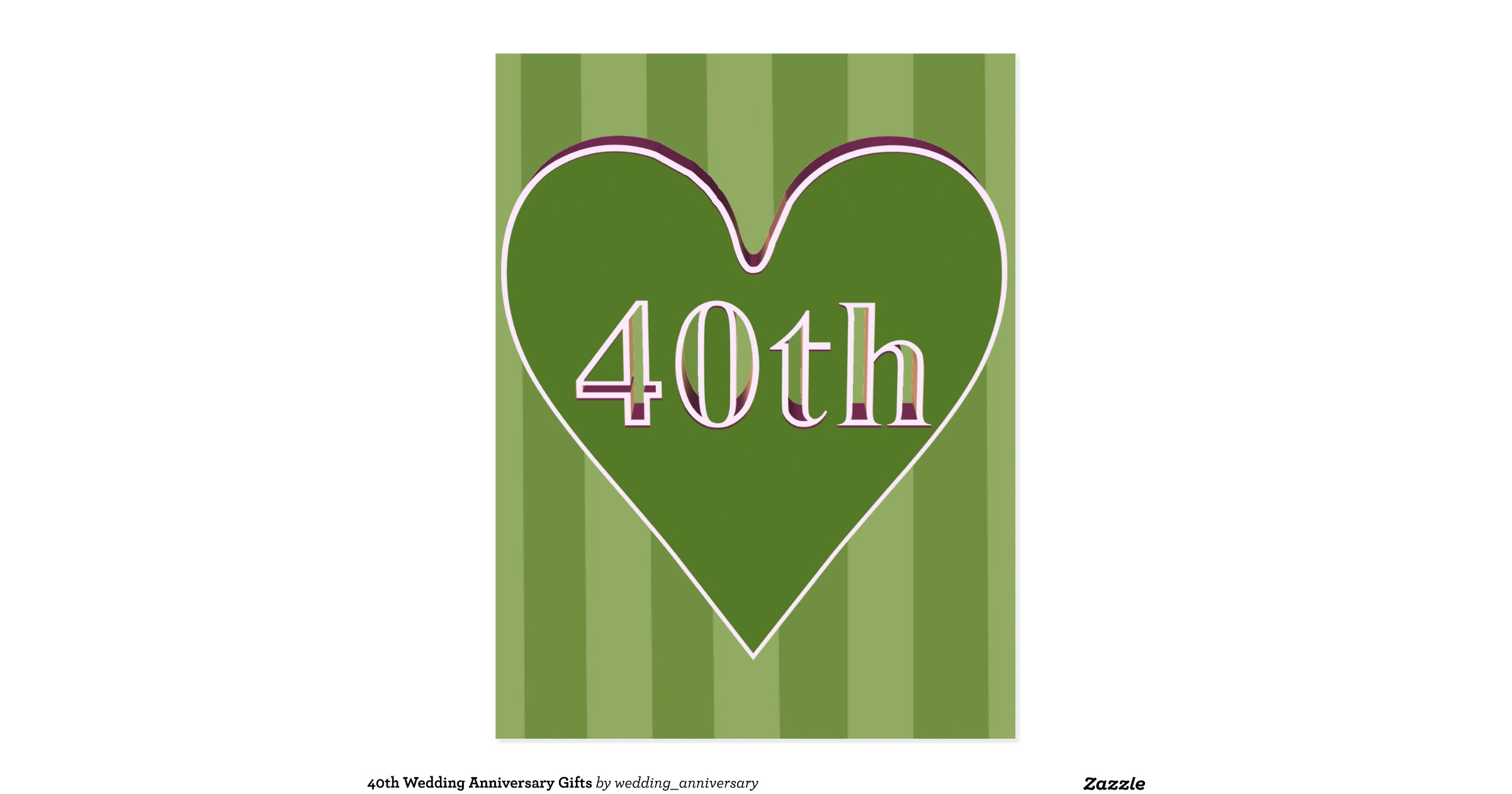 What Is The Traditional Gift For A 40th Wedding Anniversary: 40th_wedding_anniversary_gifts_postcard