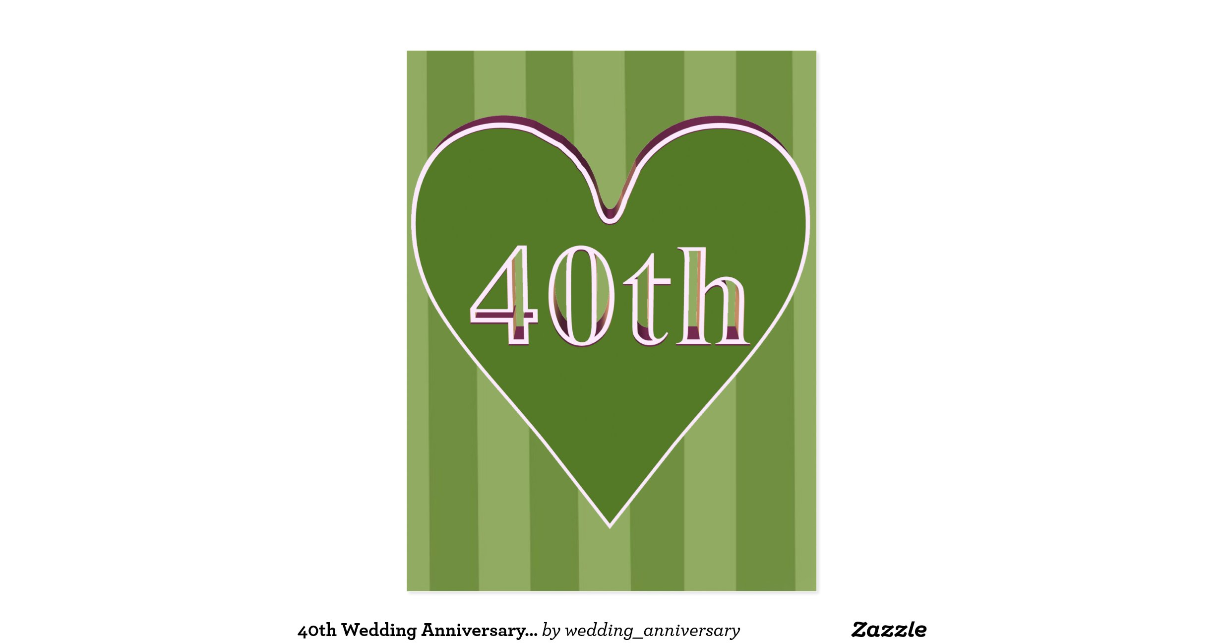 Gift Ideas 40th Wedding Anniversary: 40th_wedding_anniversary_gifts_postcard