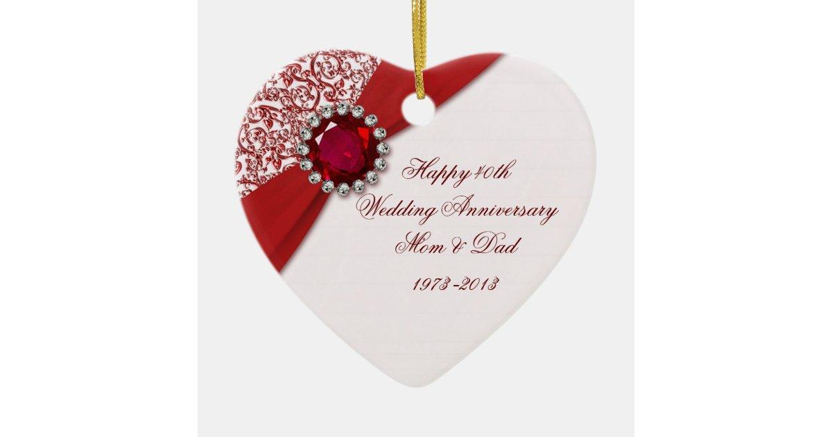 40th Wedding Anniversary Ornament Zazzle
