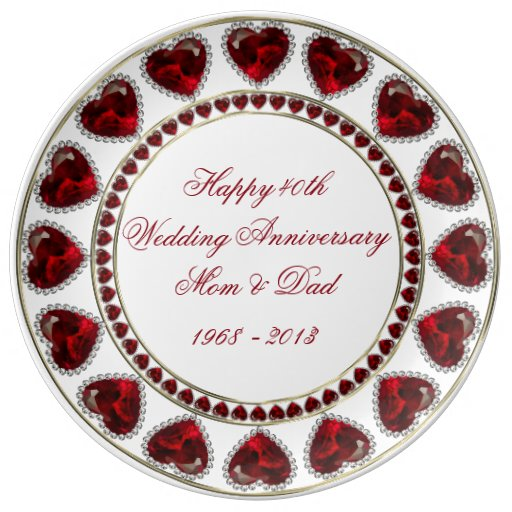 What Is The Traditional Gift For A 40th Wedding Anniversary: 40th Wedding Anniversary Porcelain Plate