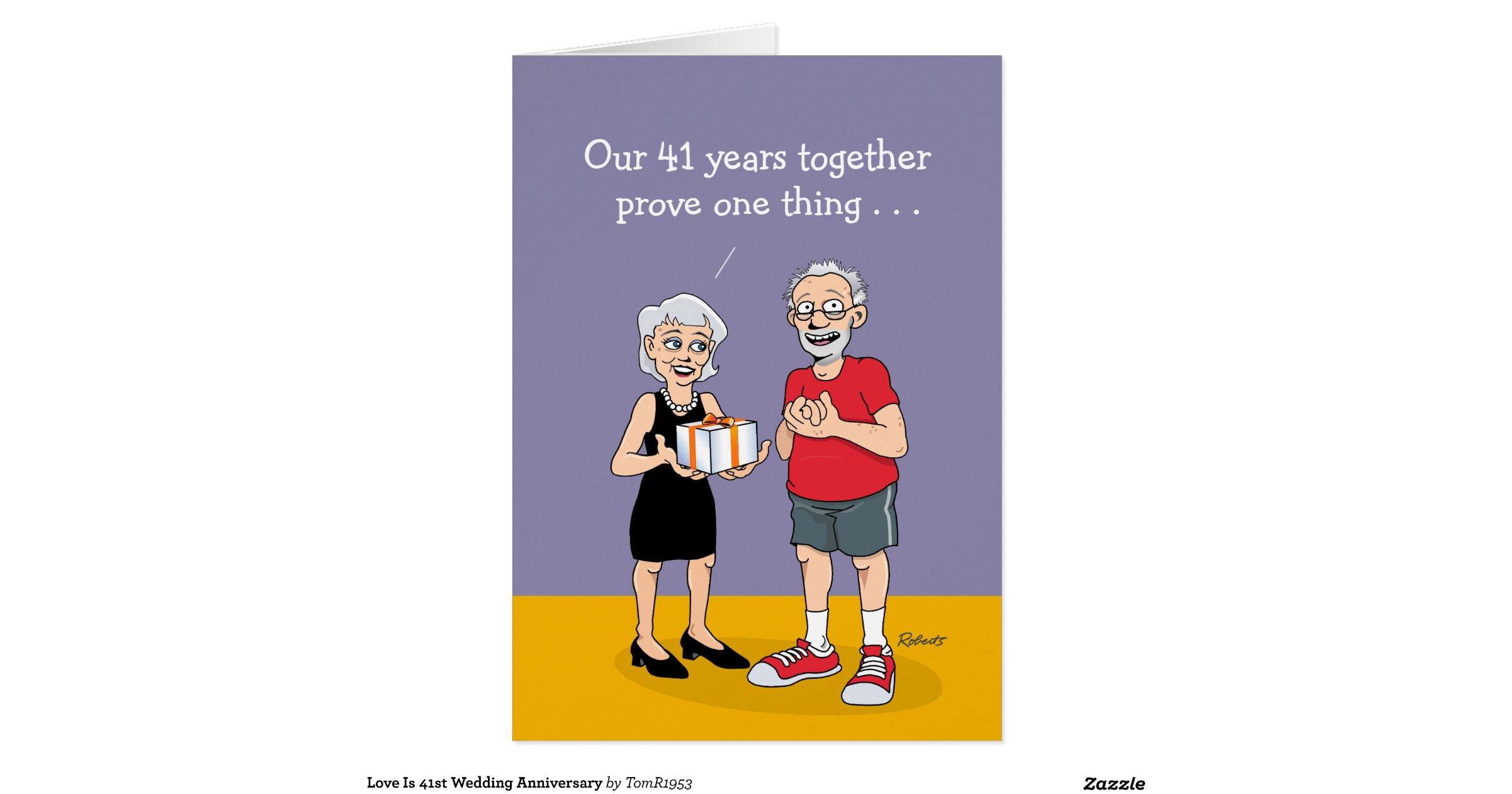 41st Wedding Anniversary Gift: 41st_wedding_anniversary_card_love_greeting_card