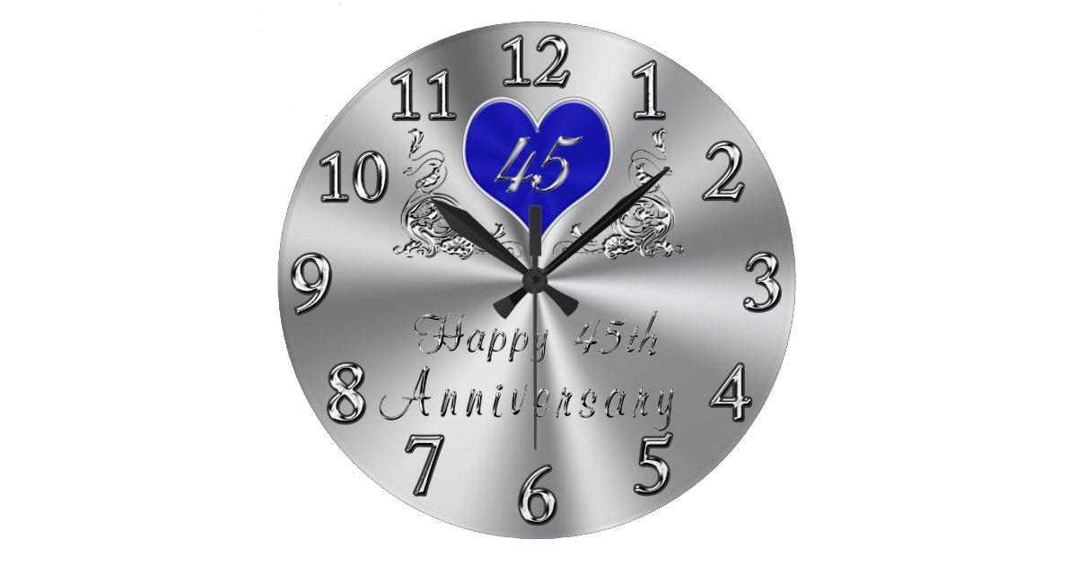 Clock Wedding Gift: 45 Year Wedding Anniversary Gifts Sapphire CLOCK
