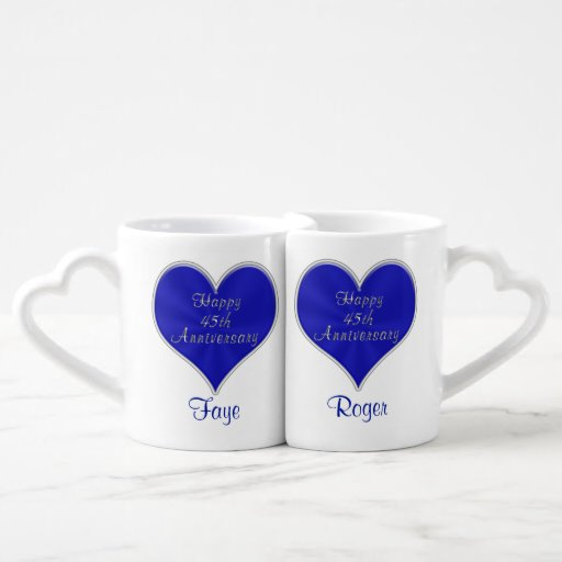 45 Wedding Anniversary Gift Ideas: 45th Anniversary Gift Ideas With NAMES And DATE Coffee Mug