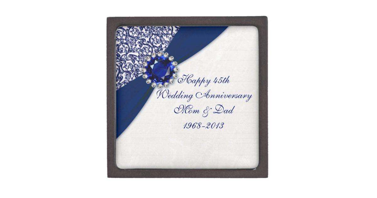 Gifts For 45th Wedding Anniversary: 45th Wedding Anniversary Gift Box