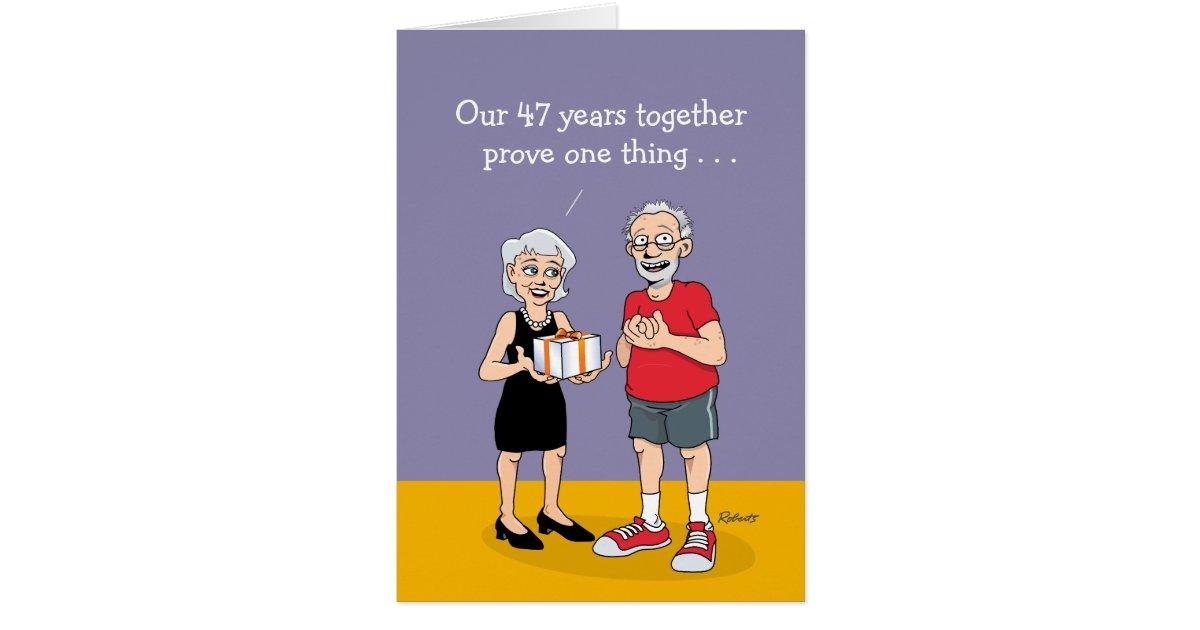 47th Wedding Anniversary Card Love Is Blind Card Zazzle