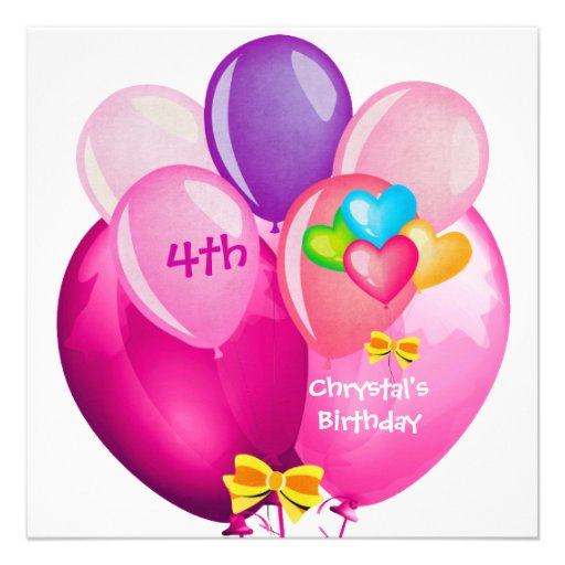 Pink 4th Birthday Cake Ideas And Designs