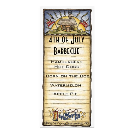 4th of july barbecue menu rack card template zazzle for 4th of july menu template
