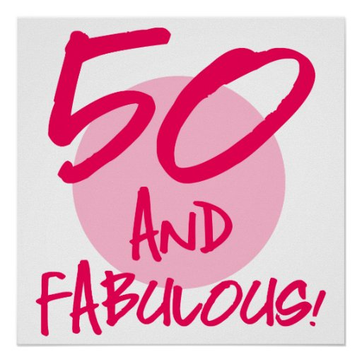 50 Abd Fabulou: 50th Birthday Posters, 50th Birthday Prints, Art Prints