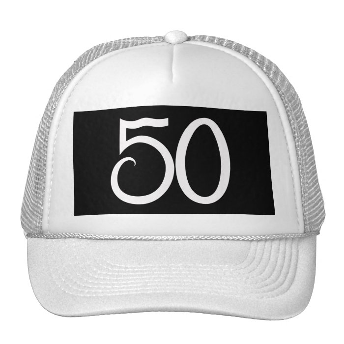 50th Birthday Party Hats And Trucker Hat Designs