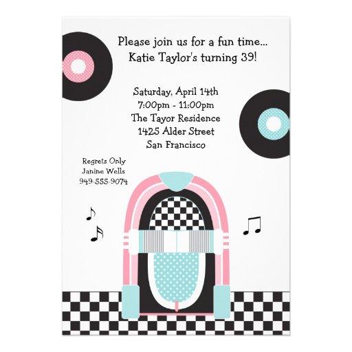50s Retro Party Invitation