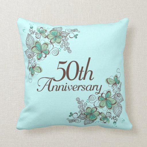50th Anniversary Pillow Personalized Pillow Cover |50th Wedding Anniversary Pillows