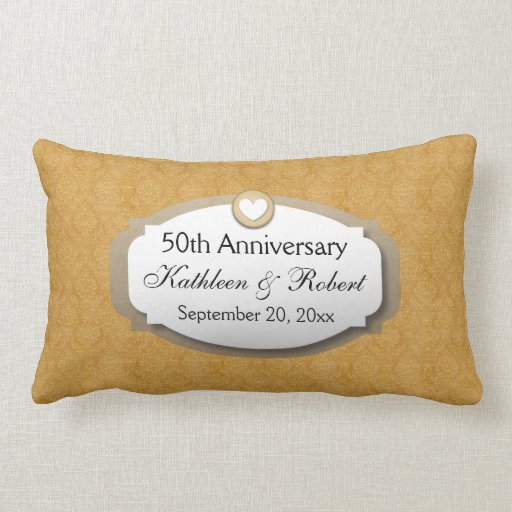 50th Wedding Anniversary Throw Pillow by sagart |50th Wedding Anniversary Pillows