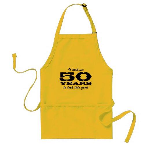 50th Birthday Bbq Aprons For Men