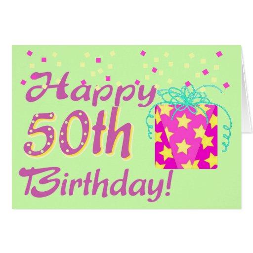 50th Birthday Card Template